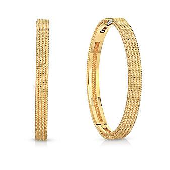Roberto Coin 18K Yellow Gold Symphony Hoop Earrings - Medium