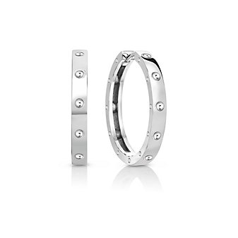 Roberto Coin 18K White Gold Small Symphony Hoop Earrings