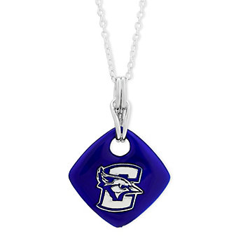 Creighton Bluejays Sterling Silver & Blue Enamel Diamond Shaped Pendant