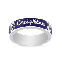 Creighton_Bluejays_Sterling_Silver_&_Blue_Enamel_Ring,_Size_7