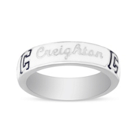 Creighton_Bluejays_Sterling_Silver_&_White_Enamel_Ring,_Size_6
