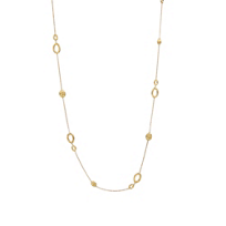 """Marco_Bicego_18K_Yellow_Gold_Oval_Link_and_Bead_Siviglia_Necklace,_36"""""""