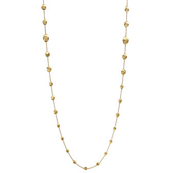 Marco Bicego 18K Yellow Gold Oval Bead Siviglia Necklace, 36""