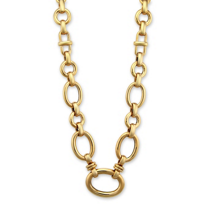 Roberto_Coin_18K_Rose_Gold_Oval_Link_Necklace,_16""