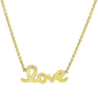 Roberto Coin 18K Yellow Gold Love Necklace
