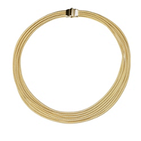 """Marco_Bicego_18K_Yellow_Gold_Il_Cairo_7-Strand_Necklace,_17"""""""