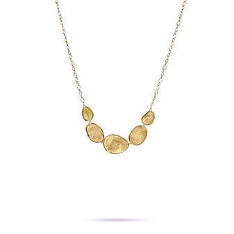 Marco Bicego 18K Yellow Gold Five Station Lunaria Necklace