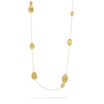 """Marco_Bicego_18K_Yellow_Gold_Lunaria_Station_Necklace,_40"""""""