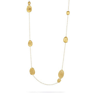 Marco Bicego 18K Yellow Gold Lunaria Station Necklace, 40""