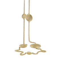 Roberto_Coin_18K_Yellow_Gold_Silk_Disc_Station_Necklace,_41""