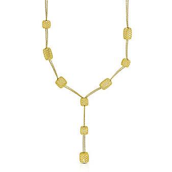 Roberto Coin 18K Yellow Gold Silk Rectangular Stations Drop Necklace