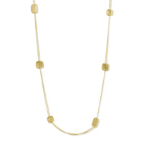 """Roberto_Coin_18K_Yellow_Gold_Silk_Collection_Square_Station_Necklace,_41"""""""