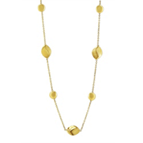 """14K_Yellow_Gold_Station_Necklace,_17.5"""""""