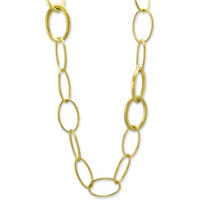 """14K_Yellow_Gold_Oval_Link_Necklace,_27.5"""""""