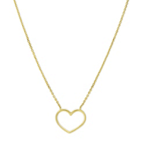 14K_Yellow_Gold_Open_Heart_Necklace,_18""