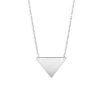 14K_White_Gold_Triangle_Necklace,_18""