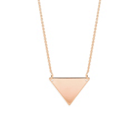 14K_Rose_Gold_Triangle_Necklace,_18""