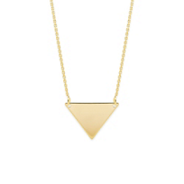 14K_Yellow_Gold_Triangle_Necklace,_18""