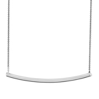14K_White_Gold_Curved_Bar_Necklace,_18""