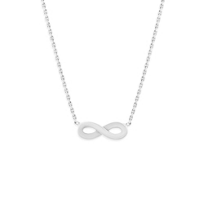 14K_White_Gold_Infinity_Necklace,_18""