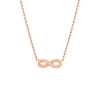 14K_Rose_Gold_Infinity_Necklace,_18""