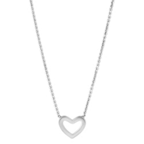 14K_White_Gold_Open_Heart_Necklace,_18""
