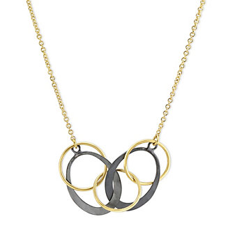 Toby Pomeroy 14K Yellow Gold & Sterling Silver Galaxy Oval Eclipse Necklace