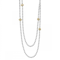 Lagos_Sterling_Silver_and_18K_Yellow_Gold_Caviar_Icon_Station_Beaded_Necklace,_36""
