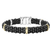 Lagos_Sterling_Silver_&_18K_Yellow_Gold_Station_Black_Caviar_Bracelet