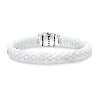 Lagos Sterling Silver & 18K White Caviar Bracelet