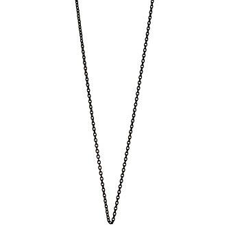"""Monica Rich Kosann Black Steel Cable Chain, 32"""""""