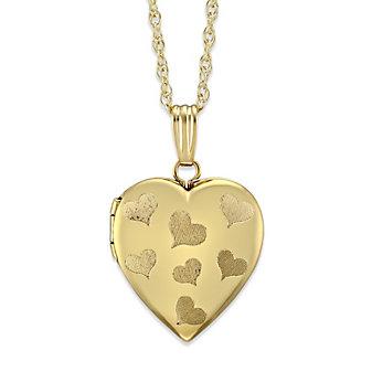 14K Yellow Gold Heart Locket