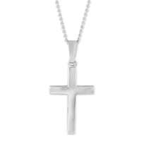 14K_White_Gold_Cross_Pendant_With_Adjustable_Chain