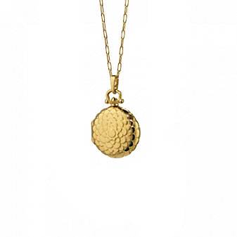 Monica Rich Kosann 18K Yellow Gold Round Petite Locket