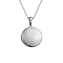 14K_White_Gold_Round_Locket_Pendant