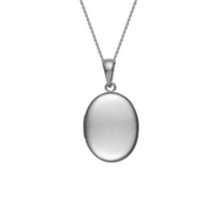 14K_White_Gold_Plain_Oval_Locket_Pendant