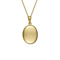 14K_Yellow_Gold_Plain_Oval_Locket_Pendant