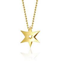 Alex_Woo_14K_Yellow_Gold_Little_Faith_Sunburst_Star_Pendant