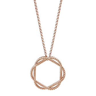 Roberto Coin 18K Rose Gold Barocco Twisted Open Circle Pendant