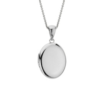 14K_White_Gold_Plain_Oval_Locket