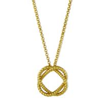 """Roberto_Coin_18K_Yellow_Gold_Circle_Barocco_Pendant,_18"""""""