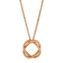 """Roberto_Coin_18K_Rose_Gold_Circle_Barocco_Pendant,_18"""""""