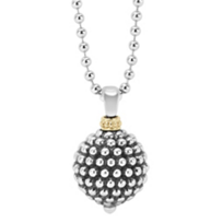 Lagos_Sterling_Silver_&_18K_Yellow_Gold_Forever_Caviar_Ball_Pendant