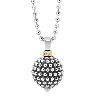 Lagos Sterling Silver & 18K Yellow Gold Forever Caviar Ball Pendant