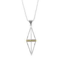 Lagos_Sterling_Silver_&_18K_Yellow_Gold_KSL_Pyramid_Necklace