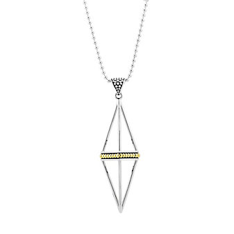 Lagos Sterling Silver & 18K Yellow Gold KSL Pyramid Necklace