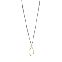 Melissa_Joy_Manning_14K_Yellow_Gold_&_Oxidized_Sterling_Silver_Wishbone_Pendant