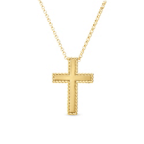 roberto_coin_18k_yellow_gold_medium_cross_pendant_with_patterned_edge,_18""