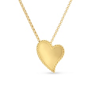 roberto_coin_18k_yellow_gold_heart_pendant_with_twisted_edge,_18""