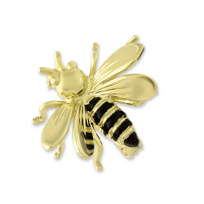 14K_Yellow_Gold_&_Black_Enamel_Bee_Pin